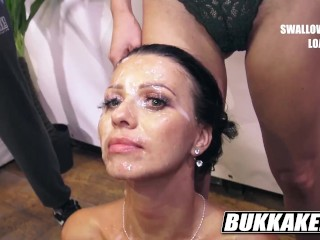 stunning Vicky Brown blowjob Bukkake with BTS interview! - bukkakexxx.