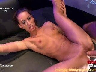 Two stunning German babes loving hardcore fucking and cumshots